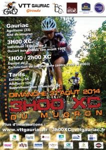 3 heures XC au Mugron 2014 (33 Gauriac) & Résultats