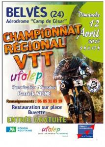 Le Championnat Régional UFOLEP XC de VTT  à Belvès (24)