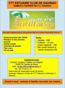 SOIREE ANTILLAISE SAMEDI 4 FEVRIER