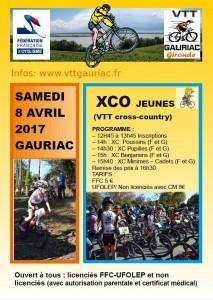 XCO JEUNES GAURIAC Samedi 8 avril 2017