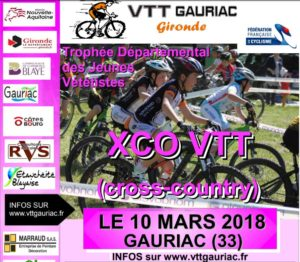 XCO JEUNES GAURIAC Samedi 10 mars 2018