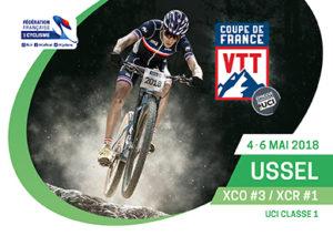 3éme MANCHE DE LA COUPE DE FRANCE VTT XCO A USSEL (19), Les 4, 5 et 6 mai 2018
