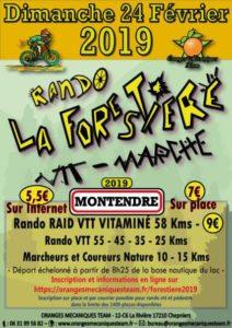RANDO VTT LA FORESTIERE DIMANCHE 24 FEVRIER A MONTENDRE (17)