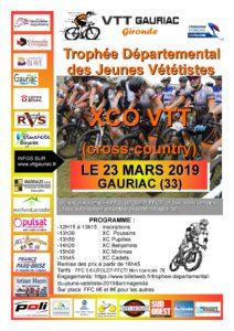 VTT XCO JEUNES GAURIAC Samedi 23 mars 2019