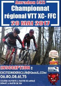 Compte-rendu: CHAMPIONNAT D'AQUITAINE FFC XCO VTT  DIMANCHE 28 MAI  AURADOU (47)