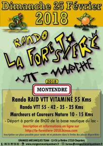 RANDONNEE VTT LA FORESTIERE DIMANCHE 25 FEVRIER A MONTENDRE