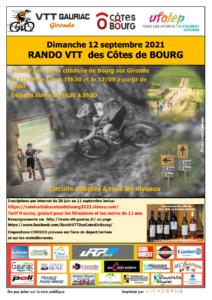 Randonnée VTT des Côtes de Bourg 2021